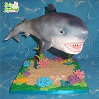 Shark suspended cake