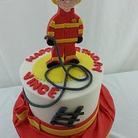 Fire Man Cake