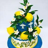 "My piece of ""Art of pottery""- an international cake art collaboration"