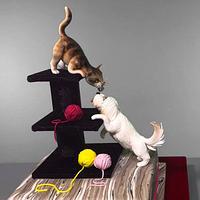Cat and Dog Cake