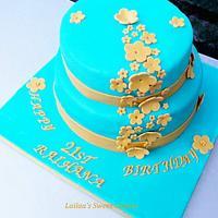 21st Flower Birthday cake!