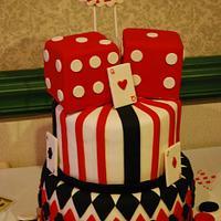 Casino 40th Birthday Cake!