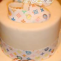 LOUIS VUITTON BABY SHOWER CAKE