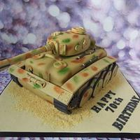 Tiger Tank Cake.