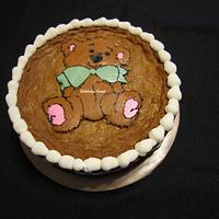 Teddy Bear Cookie Cake