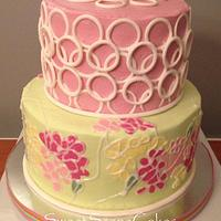 Lily Pulitzer imprinting baby shower cake