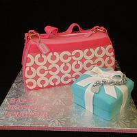 Coach Purse/Tiffany Box