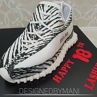 Yeezy Zebra shoe cake