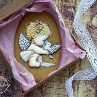 Royal icing angel