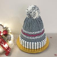 Knitted cap cake