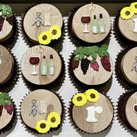 Wine Themed Cupcake Toppers by Sugar by Rachel