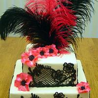 Black Lace Bridal Shower