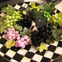 Gumpaste Grape Clusters