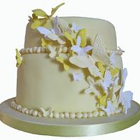 Lemon butterfly cake