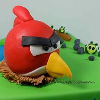 """""""One"""" Angry Birds Cake by iriene wang"""