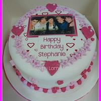 One Direction Edible Image Cake