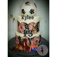 Mossy Oak , Soccer Theme Birthday Cake