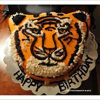 All Buttercream Tiger Cake