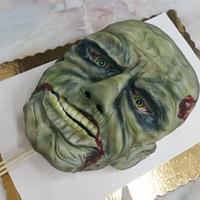 Zombie head body under construction