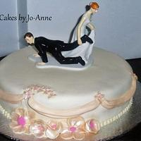 """Single Round Tier - """"we'll be married even if i have to drag you"""" by Cakes by Jo-Anne"""