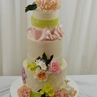 Spring Blooms on a Cake