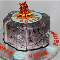 Astonishing Skylander Portal Birthday Cake Cake By Teresa Markarian Cakesdecor Personalised Birthday Cards Veneteletsinfo