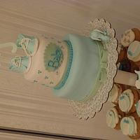 Baby Boy Shower Tower