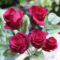 Symbol of Love -Sugar red roses