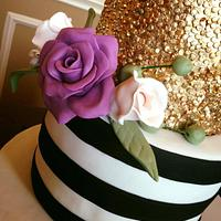 Edible sequins cake