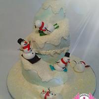 Frolicking Snowmen