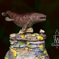 Mosasaur Cake
