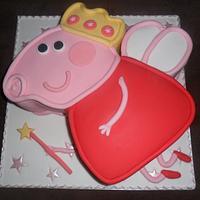 large peppa pig angel birthday cake