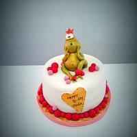 Princess Frog Cake