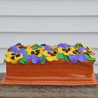 Pansy Window Box Cake