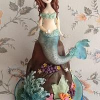 Mermaid Cake by onceuponatimecakes