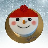 Snowman - Christmas cake