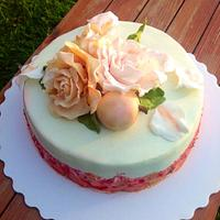 Cake whith roses