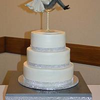 Toasting Wedding cake
