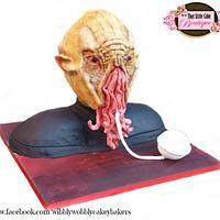"Doctor Who ""Ood"" Cake - Celebrating 50 years of Doctor Who"