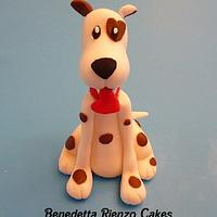 Valentine Dog Cake Topper by Benni Rienzo Radic