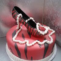 Zebra print with shoe by Jaime VanderWoude