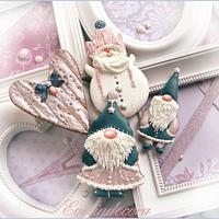 Winter gnomes cookies