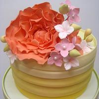 Rainbow Wedding Cake by DeVoliCakes