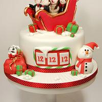 A very Christmas Wedding Cake.