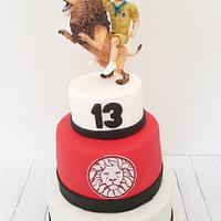 Lion cake scout bd boy