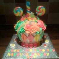 sweet giant cupcake by Lou Lou's Cakes