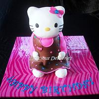 Hello Kitty Cake by DeliciousDeliveries