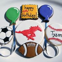 Sports Fan Birthday Cookies