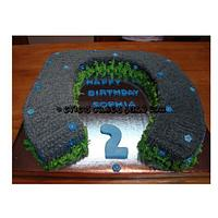Horseshoe Cake by BlueFairyConfections