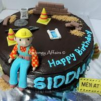 Bob the builder cake - for a civil engineer